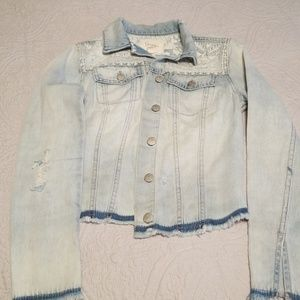 Jessica Simpson Jackets & Coats - Pre Loved Denim Jacket By Jessica Simpson